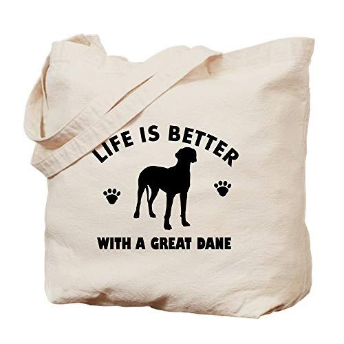 - CafePress Great Dane Breed Design Natural Canvas Tote Bag, Cloth Shopping Bag