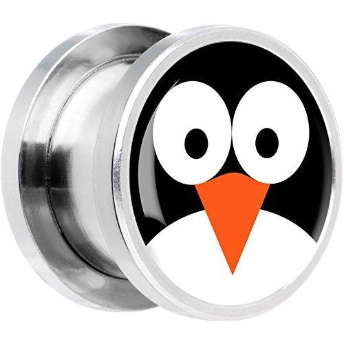 Acero Inoxidable Pingüino Cara Dilatador Ajuste Rosca Par 20mm: Amazon.es: Joyería