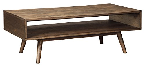 Signature Design by Ashley T802-1 Rectangular Cocktail Table, Light Brown 41Z1w3zM1UL