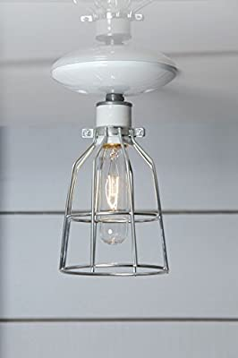 Industrial Ceiling Light - Metal Cage Lamp