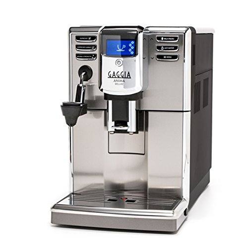 Gaggia Anima Deluxe Coffee and Espresso Machine, Includes Auto Frother for Lattes and Cappuccinos with Programmable Options Auto Espresso Machine