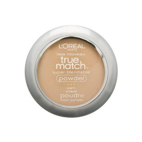 L'Oreal True Match Powder, Nude Beige [W3], 0.33 oz (Pack of 2)