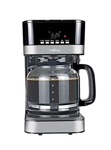Miho CM-127E 12 Cups Programmable Drip Coffee Machine with Digital Display, Small Size