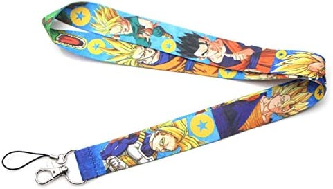 Dragon Ball Z Sangle De Cou De Bande Dessin/ée Longe Id Porte-Badge Sangle De T/él/éphone Portable Cl/é Chian Fournitures Scolaires Et /Étudiants///2