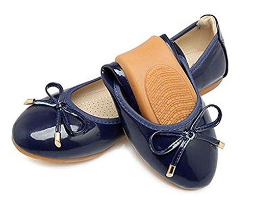 PRETTYHOMEL Women's Comfortable Point Toe Flat Pumps Slip On Shoes Flats Sandals(Blue 36/5 B(M) US Women) -