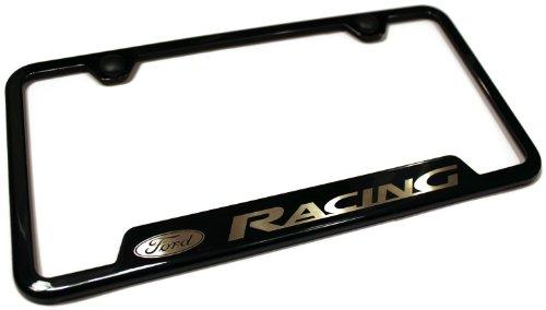 Fmf License Plate Frame - Ford Racing Black Stainless Steel License Plate Frame