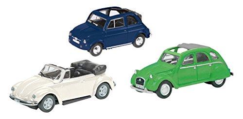 1/87 Cabrio Classics 3個セット(フィアット 500/シエトロン 2CV/Kafer) 452611000