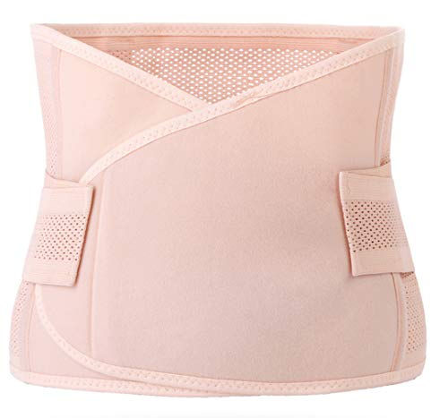 Hernia Support Belt for Woman Small Size ONLY, Abdominal Binder for Belly Button Hernias or Navel Hernias by J-Bless (Pink)