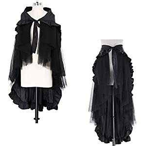 Belle Poque Women's Steampunk Gothic Wrap Skirt Victorian Ruffles Pirate Skirt