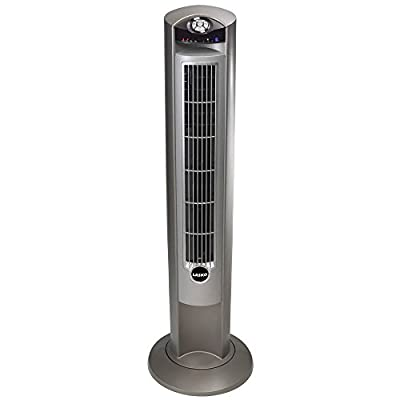 Lasko Wind Curve Fan with Fresh Air Ionizer, 42-Inch, Silver (2551