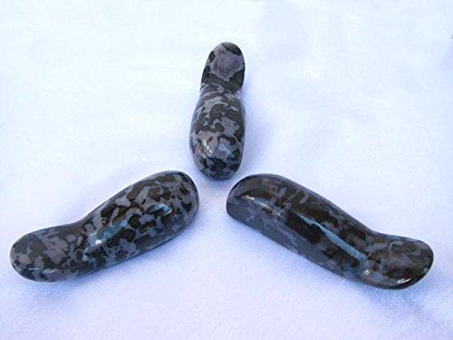 Madagascar Minerals Handheld Indigo Gabbro Stone Massage Tool