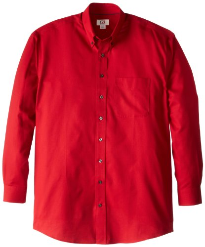 Cutter & Buck Men's Big-Tall Epic Easy Care Nailshead Shirt, Cardinal Red, 5XB