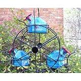 Par-A-Sol Bouquet Ferris Wheel 3 Station Bird Feeder – Aquamarine For Sale