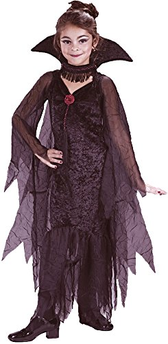 Girls - Daughter Of Darkness Ch Small Halloween Costume - Child (Daughter Of Darkness Halloween Costume)