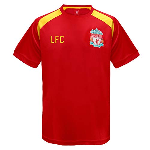 Liverpool Away Kit - Liverpool FC Official Football Gift Mens Poly Training Kit T-Shirt Red Medium