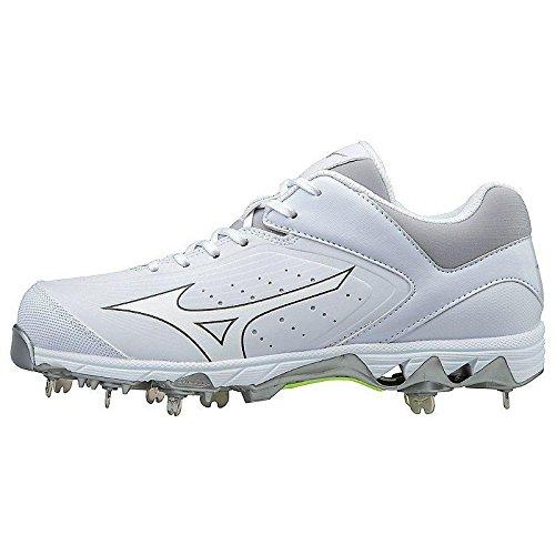 Mizuno Women's Swift 5 Fastpitch Cleat Softball Shoe, White/White, 9.5 B US by Mizuno