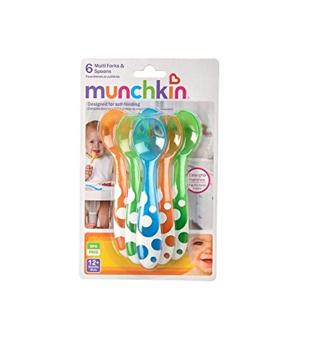 Munchkin 6-Pack Spoons & Forks. Baby, spoons, munchkin, plastic, fork, set, flatware Home improvement / accessories