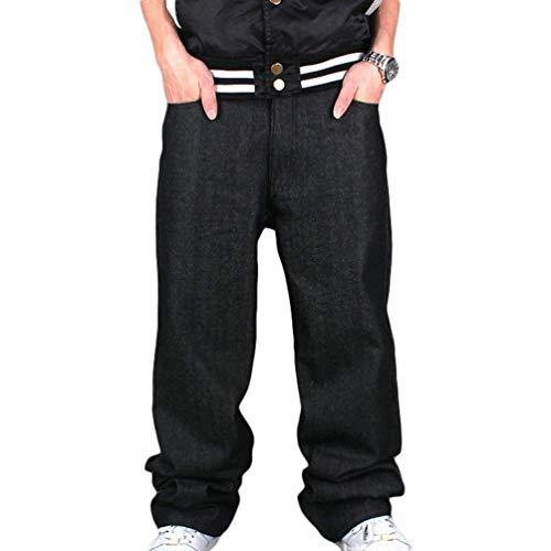 Hip hop Sera Ragazzi Downtown Di Pantaloni Uomo Ballo Jeans Street Solido Giovane Da Dance Yasminey Nero Colore wXxqHYH