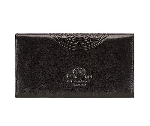 21 grain Portefeuille Couleur Rouge Wittchen Taille Orientation Matériel 052 x de 5 Italy Cuir Collection CM 10 Horizontalement 1 Noir L3 18 YTxxwq