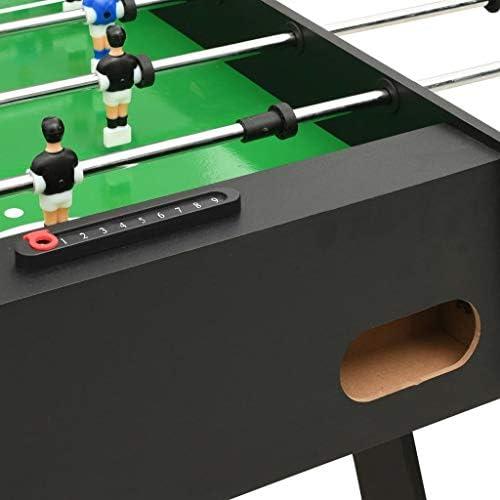 Festnight Futbolín Plegable Futbolines para Niños Negro 121x61x80 cm: Amazon.es: Hogar