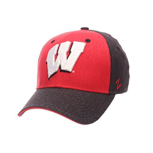 Zephyr NCAA Wisconsin Badgers Boys Challenger Cap, Youth, Heathered Team Color