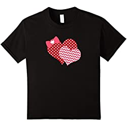 Valentines Day Heart T Shirt A Cute Gift for Women and Girls - Kids 12 - Black