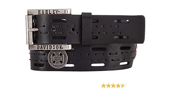 Harley-Davidson Men/'s Rough Rider Genuine Leather Belt Black HDMBT11544