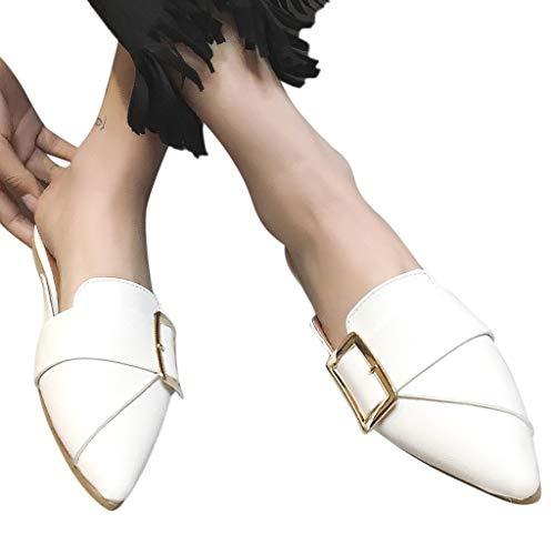 Stylish Summer Mules Shoes Slides Outdoor Flat Heel Platform Slippers Flip Flops Women Pointed Toe Shoes Sandals Shoes
