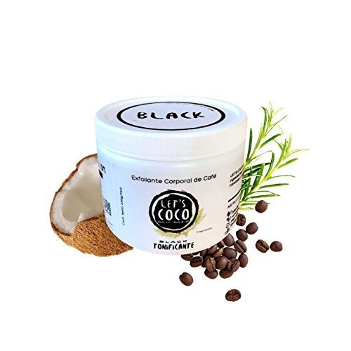 Let's Coco Black, exfoliante corporal de cafe. 330 gr.
