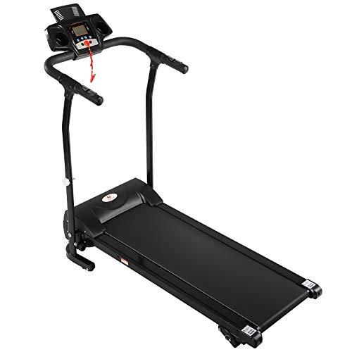 2HP Folding Treadmill Electric Motorized Power 12KM/H Running Fitness Machine W/PAD Holder,Hand Grip Pulse Sensor