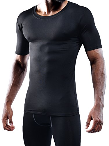 Neleus Men's 3 Pack Athletic Compression Under Base Layer T Shirt,5011,Black,XL,EUR 2XL