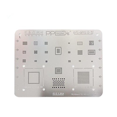 Purpose Phone BGA Reballing Stencil Template High Precision BGA IC Chipset for iPhone 6 6P 6S 6SP 7 7P 8 8P NAND CPU Repair (6 6P) ()