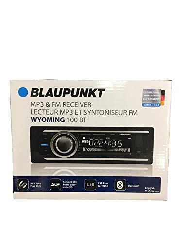- Blaupunkt Wyoming 100 BT MP3 & FM Receiver 4 Channel Output with Bluetooth USB Port, SD Card Slot & AUX Port