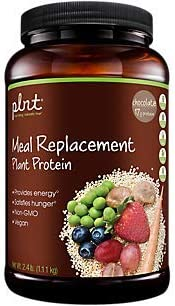 plnt Chocolate Meal Replacement Powder Vegan NonGMO Plant Protein That Provides Energy Satisfies Hunger