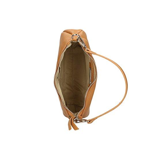 Chicca Borse echtes Leder Schultertasche 26x16x8 Cm Leder