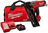 Milwaukee Elec Tool 2742-21CT M18 Fuel Lithiumion Brushless Cordless 16Gauge Angled F Inish Nailer Kit 247221Ct