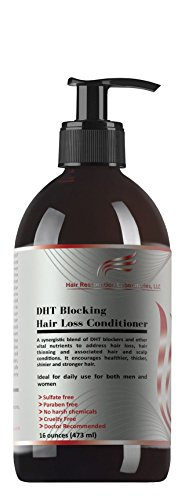 HAIR RESTORATION LABORATORIES' DHT BLOCKING HAIR LOSS CONDITIONER-16 OUNCES. THE MOST EFFECTIVE HAIR LOSS CONDITIONER EVER DEVELOPED FOR MEN & WOMEN: OVER 20 DHT - Protein Conditioner Panthenol Hair