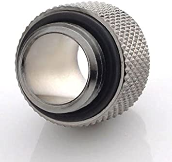 Bitspower G1//4 10mm Male to Male Fitting Silver Shining