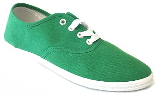 Shoes 18 Womens Canvas Shoes Lace up Sneakers 324 Emerald Green 7]()