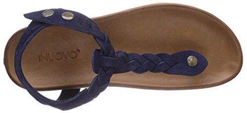 Inuovo LINIFOLIA - Sandalias de vestir de cuero para mujer azul - Blau (NAVY NUBUCK)