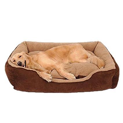 Pet harem Casa Perro Cama Lavable Perro Golden Retriever Mediano Perro Grande Husky Labrador Suministros para Mascotas Four Seasons Universal (Tamaño ...