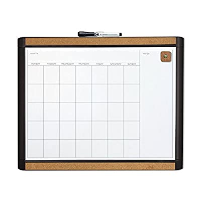 U Brands Pin-It Magnetic Dry Erase Monthly Calendar Board