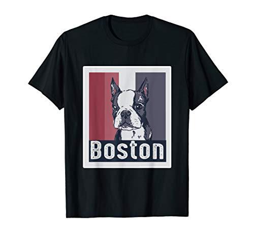 (Boston Terrier Portrait T-Shirt for Dog Lovers)