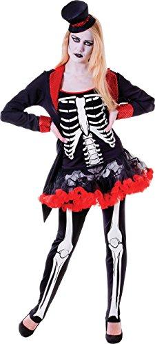 Adult Ladies Halloween Skeleton Fancy Dress Party Mrs Bone Jangles Costume