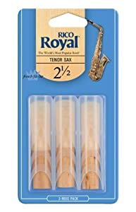 Rico Royal 2.5 Strength Reeds for Tenor Sax (Pack of 3)