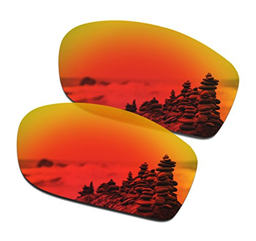 SmartVLT Men's Fire Red Replacement Lenses for Oakley Fives Squared - Lenses Squared Fives