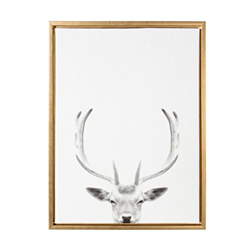 Kate and Laurel Sylvie Deer with Antlers Black and White Por