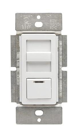 Leviton IPF01-1LX IllumaTech 1.5A Quiet Step Preset Fan Speed Control, Single Pole, - Quiet Electronic Low Voltage Dimmer