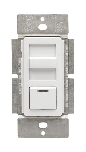 Leviton IPF01-1LZ IllumaTech 1.5A Quiet Step Preset Fan Speed Control, Single Pole, White/Ivory/Light Almond Almond Fan Speed Control Dimmer