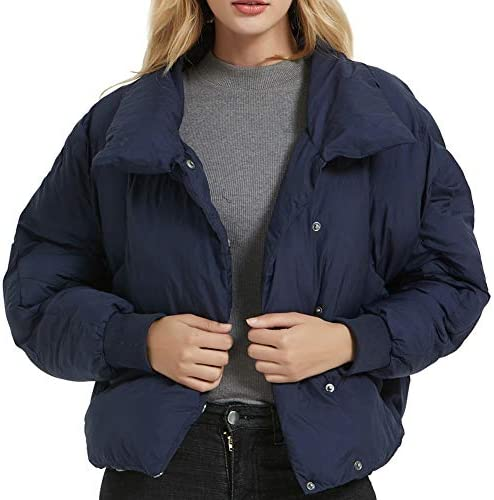 DANLIA Witer Quilted Jacket Lightweight Outdoor Windproof Collar Outerwear Overcoat Coat Men